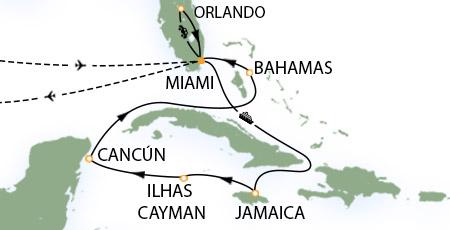 Mapa Itinerário do Cruzeiro
