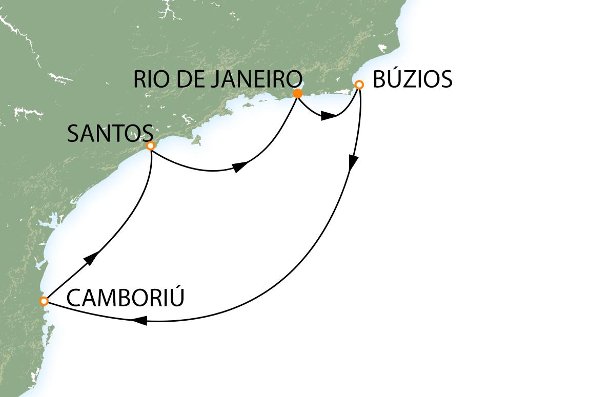Rio, Copacabana, Búzios, Camboriú e Santos